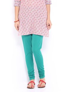 Buy W Women Green Cotton Churidar Leggings - 387 - Apparel for Women - 330541