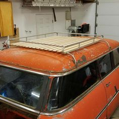 Custom wood and tube roof rack.