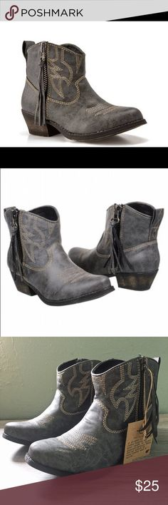BNIB Big Buddha Wylan Western Festival Bootie Brand new in box. Wylan wester bootie by Big Buddha. Perfect for festival season. True to size. Fantastic grey color goes with everything. Big Buddha Shoes Ankle Boots & Booties