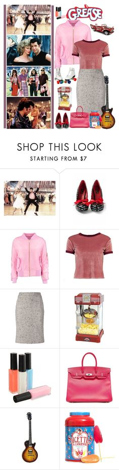 """""""Grease is the word"""" by fashionqueen76 ❤ liked on Polyvore featuring Pinup Couture, Boohoo, Chanel, Funtime, Hermès, Aime and movie"""
