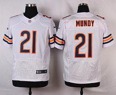 Nike Chicago Bears  21 Ryan Mundy White Elite Jersey fac8f3e36