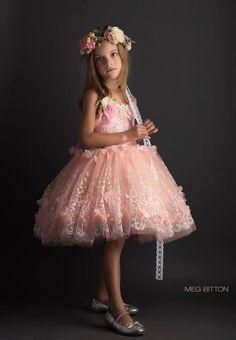 "FabTutus | Products | Flower Girl Dress | ""Leah"" Dress - Jardin Des Fleurs Collection"