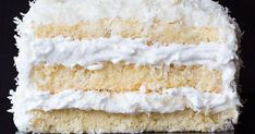 Thick Italian meringue is sandwiched between moist layers of cake, which is topped off with sweetened shredded coconut in this recipe from chef Thomas Keller.