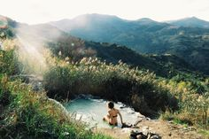 patagonia:  Erica Berry soaks in a natural hot springs in Sicily's Madonie National Park. Submitted by Rosie Bowden Instagram @ericajberry