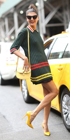 Giovanna Battaglia #NYFW Spring 2015 Street Style