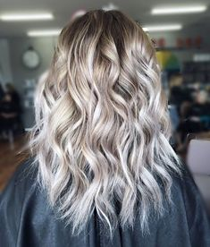 Shag Hairstyle With White Highlights