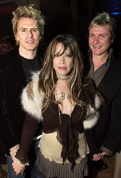 Love her hair! Gela Nash-Taylor, founder of Juicy Couture (and married to John Taylor of Duran Duran)