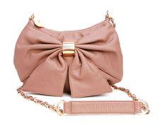 pink bow mini handbag