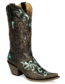 Stetson Distressed Python Inlay Cowgirl Boot - Pointed