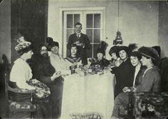 Rasputin having tea