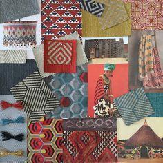Warwick Fabrics Moodboard and Inspiration for our Bromley Collection. #warwickfabrics #moodboard