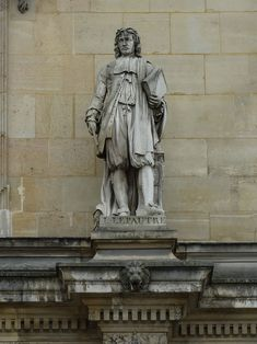 HD photographs showing Jean Lepautre statue sculpted by Astyanax Scaevola Bosio located on Rotonde d'Apollon at The Louvre in the Arrondissement of Paris. French Sculptor, Louvre, Engraved Plates, Legion Of Honour, Paris Images, Stone Statues, Image Shows, Hd Photos, Sculpting
