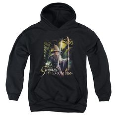 Hobbit - Sword And Staff Youth Pull-Over Hoodie