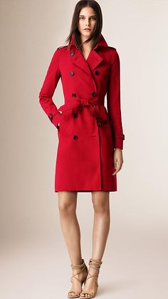 Parade Red The Kensington - Long Heritage Trench Coat - Image 1