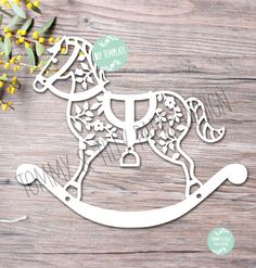 40% off all Commercial Templates!! COMMERCIAL USE 3 x Rocking Horse Designs - Papercutting Template to print and cut yourself