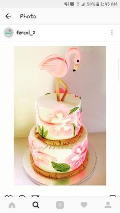 Flamingo tropical cake