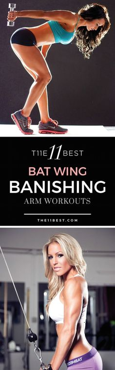 Arms feeling a bit flabby? Do they jiggle around while you're waving hello or goodbye? Those are called Bat Wings and almost all women get them. With some focused arm workouts, we can tone, tighten, and beautify that flab. Here are the 11 Best Bat Wing Banishing Arm Workouts
