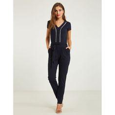 Combinaison Pantalon Unie Avec Liseré - Taille : 34