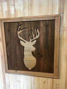 This Rustic hand crafted Wood Deer Head Silhouette would be the perfect gift for the hunter in the family or for anyone who loves rustic decor Frame measures x and is thick Rustic Crafts, Wooden Crafts, Rustic Decor, Deer Head Silhouette, Silhouette Sign, Diy Wood Wall, Reclaimed Wood Wall Art, Wood Deer Head, Deer Heads