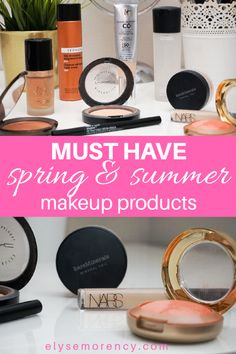 Spring and Summer Must Have Makeup Products Makeup Routine, Makeup Kit, Makeup Products, It Cosmetics Cc Cream, Nars Radiant Creamy Concealer, Makeup For Moms, Natural Foundation, Heavy Makeup, Beauty Sponge