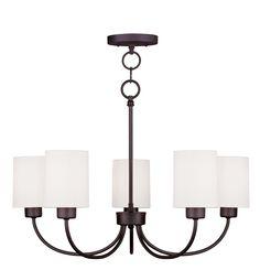 Livex Lighting Sussex Bronze Convertible Chain Hang Chandelier/Ceiling Mount 5265-07