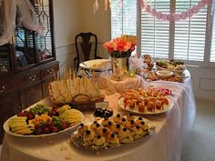 Baby shower luncheon buffet