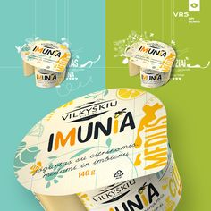 Imunia Yogurt Packaging on Packaging of the World - Creative Package Design Gallery Yogurt Packaging, Cheese Packaging, Milk Packaging, Dessert Packaging, Dairy Packaging, Product Packaging, Packaging Ideas, Dessert Logo, Dairy Free Recipes Easy