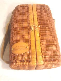 Picnic Time Wicker Wine Picnic Set, Lexus Patch In front #PicnicTime   $55.00