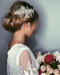 16 colors Crystal bridal hair piece Wedding hair vine Bridal hair vine hair comb Wedding headpiece h Bridal Hair Vine, Hair Comb Wedding, Bridal Tiara, Wedding Hair Pieces, Headpiece Wedding, Bridal Headpieces, Bridal Updo, Bridal Jewellery, Wedding Updo