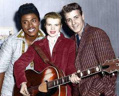 Little Richard, Alis Lesley (billed as the female Presley) and Eddie Cochran1957.