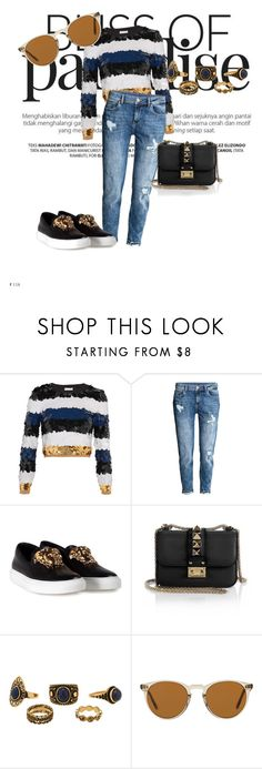 """""""Fancy tops"""" by amra-mujcic on Polyvore featuring moda, Sonia Rykiel, Versace, Valentino i Oliver Peoples"""