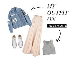 """""""Street elegance"""" by alexandradebnarova on Polyvore featuring Lanvin, Converse and H&M"""