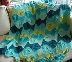 Festive Fish pattern by Paula Levy. I would like a big blanket of these fishies in lots of subtle shades of sea blue rateher like this one by larrue-b