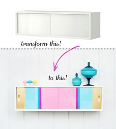 DIY colour block cabinet projects