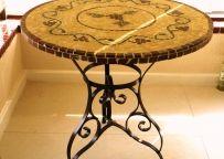 Decoração: Mesa Em Mosaico - Tampo De Mesa Bacco 90Cm