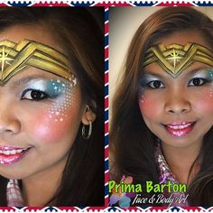 Face Painting Designs, Body Painting, Maquillage Wonder Woman, Superhero Face Painting, Female Superhero, Kid Character, Maquillage Halloween, Eye Art, Cool Kids