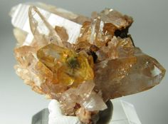Awesome Yellow Gem Euclase Crystal on Quartz!!! Rare Locality Piaotang Mine