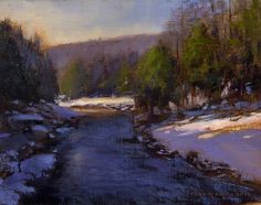 Tony D'Amico, An Early Winter 11x14 oil on panel