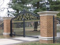 We offer a huge selection of iron gates, aluminum gates and wood gates plus, complete automatic driveway gate packages, commercial systems and custom fabrications. From basic economy gates to the most elaborate, when quality and price matter- love the pillars too