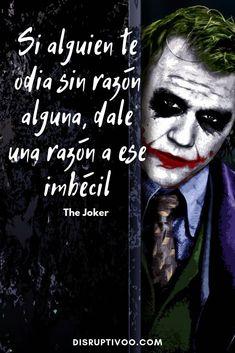 Las Mejores 90 Frases del Guasón - The Joker - Calculating Infinity Joker Frases, Joker Quotes, Joker Cosplay, Joker Meme, Joker Y Harley Quinn, Suicide Squad, Joker Heath, Joker Batman, Thinking Quotes