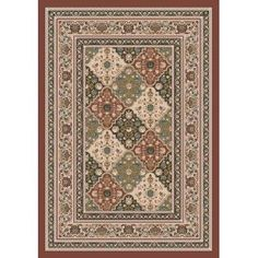 """Tournai 00618 Red Clay Kashmiran Pastiche Collection 2'4""""x11'8"""" Runner by Milliken. $249.00"""
