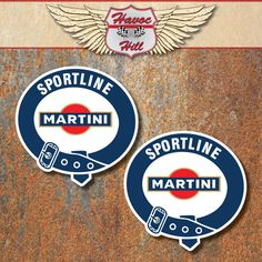 Martini Sportline Stickers 150mm Porsche Lancia Le Mans Rally Motorsport Decals