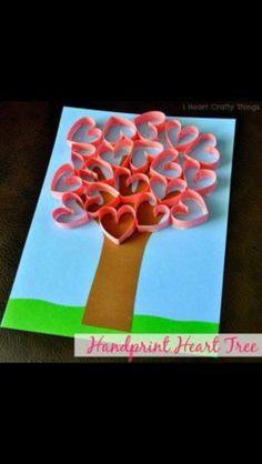 Valentijn knutsels knutselen Valentine crafts