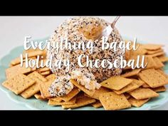 Everything Bagel Seasoning Cheese Ball Recipe - perfect for the holidays! Soft and flavorful on the inside and crunchy and nutty on the outside. We took grandma's classic cheese ball recipe and added a crunchy and zesty twist! Best Cheese Ball Recipe, Cheese Ball Recipes, Tartiflette Recipe, Holiday Party Appetizers, Holiday Parties, Baked Goat Cheese, Easy Cheese, Cheese Bites, Cheese Appetizers