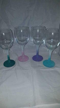 Glitter glasses ombre glitter glasses glittered glasses #GlitterGlasses