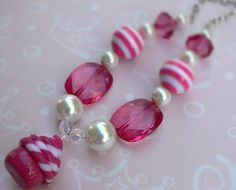 Cupcake beaded necklace :)
