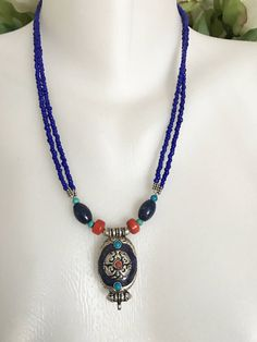A personal favourite from my Etsy shop https://www.etsy.com/uk/listing/507856544/lapis-necklace-lapis-pendant-necklace