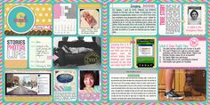 Digital Project Life. February 2013, Week 6. Two page spread.