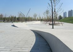 Central Park of Hunnan Axis, By Niek Roozen Loosvan Vliet, with: Urhahn Urban Design and Landscape Institute Shenyang, Shenyang, China Landscape Architecture, Architecture Photo, Shenyang, Urban Furniture, Street Furniture, Central Park, Urban Landscape, Landscape Design, Modern Landscaping