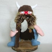 Viking with axe rattle